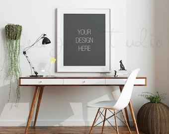 FRAME MOCKUP, Set of 4 Styled Stock Photography, 8x10, 16x20 Frame Mockup on white Wall Background , Styled Photography Poster Mockup,