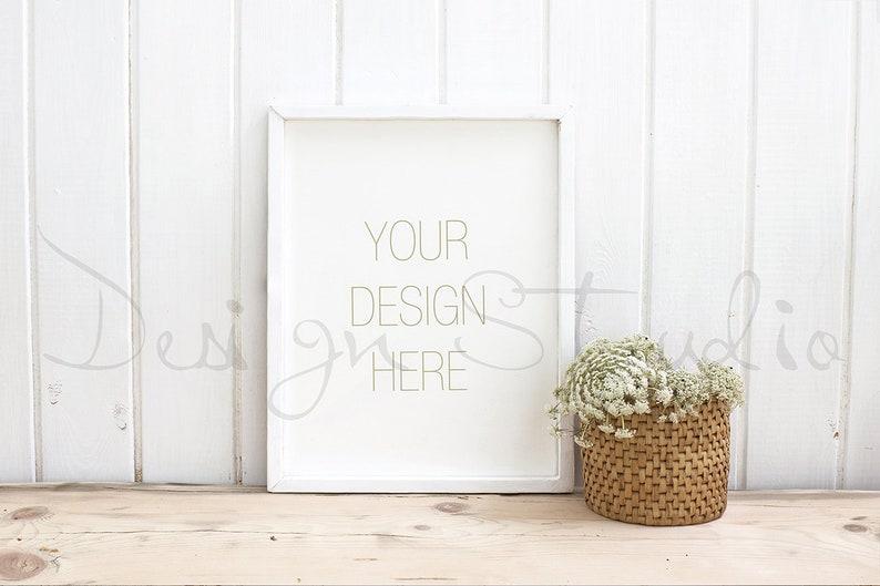 Styled Desk On White Shabby Wood Styled Stock Photography image 0