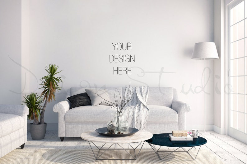 interior stock Photography living room blank Wall image 0
