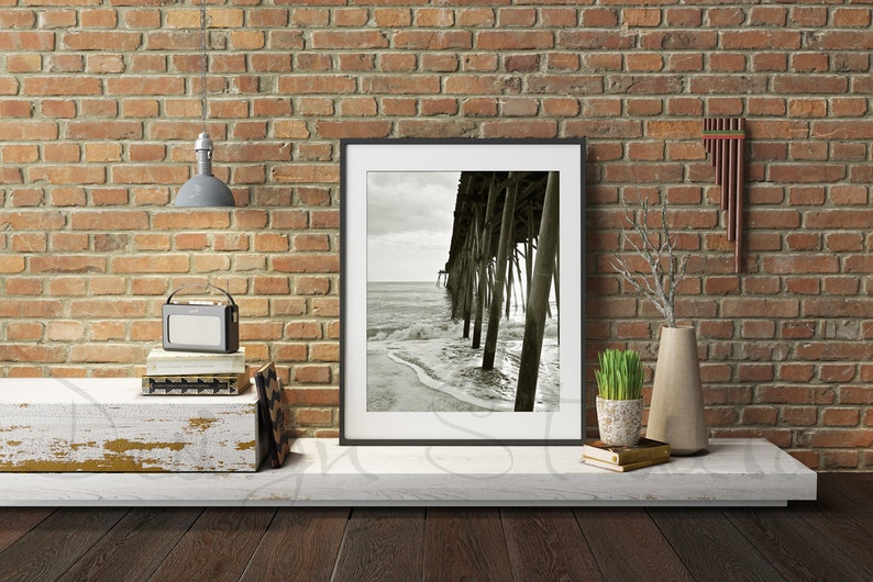 Red Brick wall frame mockup Styled Stock Photography Frame image 0