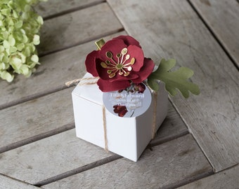 personalised maroon favor boxes wedding favour boxes wedding deco bridal shower favor boxes birth baptism favour boxes