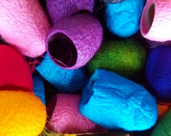 Hand Dyed Silk Cocoons