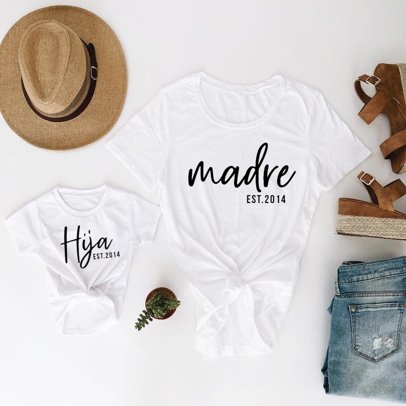 ee39af9b1d06e madre, hija, mommy and me, matching shirts, matching outfits, mommy and me  shirts, mom gift, mom shirt, mothers day gift,