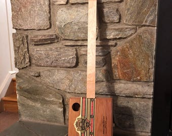 Ashton Fretless Acoustic Electric Slide Cigar Box Guitar (#32)
