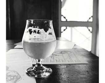 Beer Print, Canada Photography, Gifts for Him, Fine Art, Black and White Print, Gifts, Brasserie, Wall Art, B&W, Lifestyle Print - Breughel