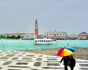 Venice San Marco Print / Umbrella Art Prints /  Venice Italy Print / Italian Art Prints / Rainy Day / Italian Decor / Italy Photography