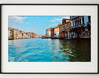 Canals of Venice Wall Art / Dramatic and Bright Italy Fine Art Print / Italy Home Decor / Water Photography / Large Wall Art / Gift for Her
