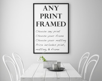 Framed Photography Print, Choose Your Print, Framed Art in a Variety of Sizes and Frame Styles, Framed Art Print, Fine Art Photography