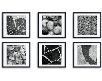 Abstract Black & White Print Set / Southern California Abstract Wall Art / Choose from 36 Square Prints / Gallery Wall /  Modern Home Decor