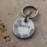 Dog Tag - Pet Tag - Pet ID Tag - Personalized Tags - Dog Collar Tag - Custom Dog Name Tag - Hand Stamped Tag - Aluminum ID Tag - Stella