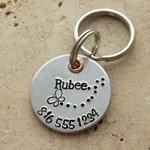 Dog Tag - Dog Name Tag - Pet ID Tag - Dog Collar Tag - Personalized Dog Tag - Custom Pet Name Tag - Hand Stamped Dog Tag - Puppy Tag - Rubee