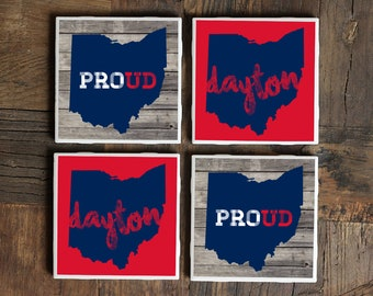 Dayton Coasters / Dayton / Dayton Ohio / Dayton Gift / Ohio Coasters / Dayton Gifts / Dayton Art / Dayton Tile Coasters / Dayton Ceramic