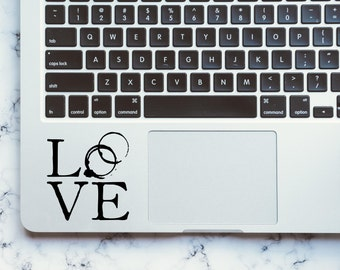 Love / Love Decal / Macbook Decal / Coffee Ring / Laptop Decal / Vinyl Decal / Love Sticker / Coffee Decal / Macbook Sticker /Computer Decal