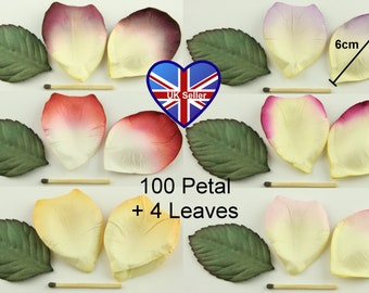 100 High Quality, 6cm, Embossed, Shaped, Paper Rose Petals. Wedding/Party Scatter Table Aisle Flower Basket Confetti. Range of Colours.