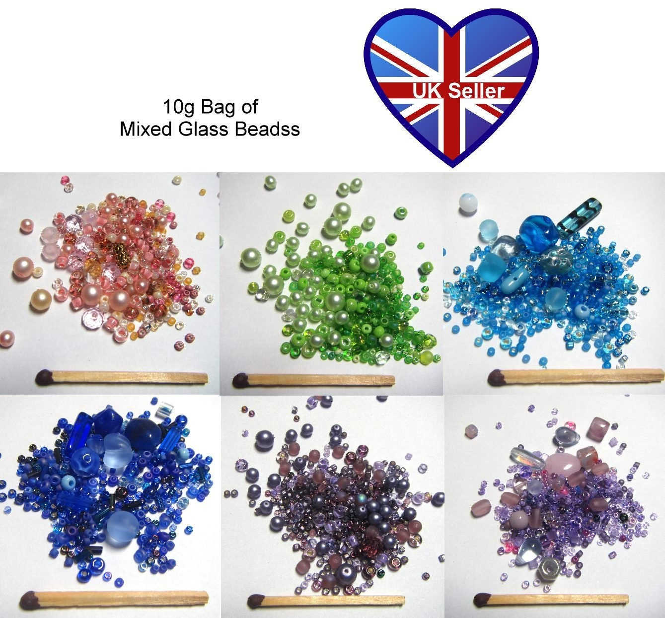 size 11//0 50g glass seed beads colour mix craft Mixed Frosted approx 2mm