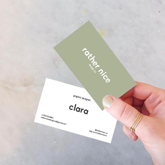 Minimal Business Card Design Personalized Business Card Etsy