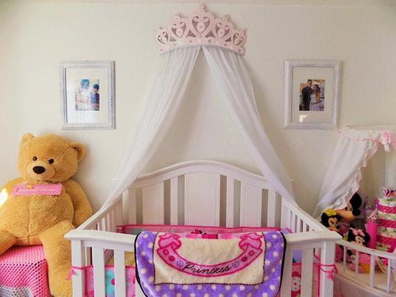 Crib Canopy Bed Crown Pink Princess Wall Decor   Etsy