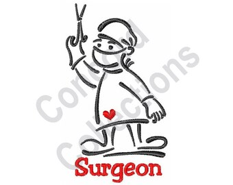 surgeon embroidery etsy Ultrasound Tech surgeon machine embroidery design