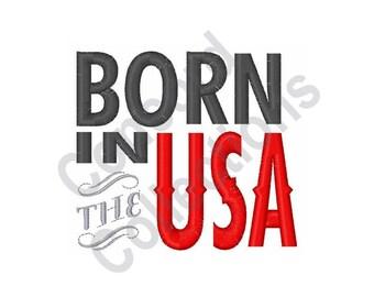 Born In The Usa - Machine Embroidery Design