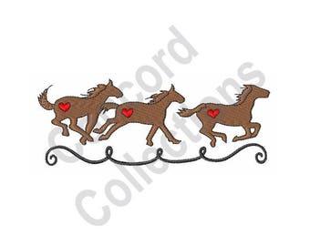 Horses - Machine Embroidery Design