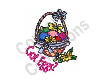 Easter Eggs Basket - Machine Embroidery Design