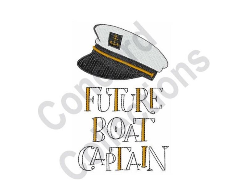 3ceac4f18f0b0 Captain Hat Machine Embroidery Design Future Boat Captain