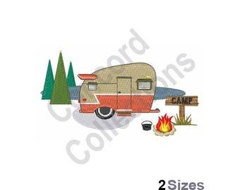Camping Trailer Machine Embroidery Design