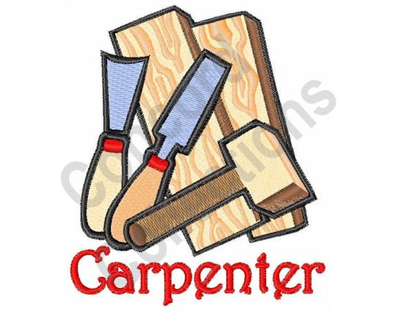 Carpenter Machine Embroidery Design Tools Etsy