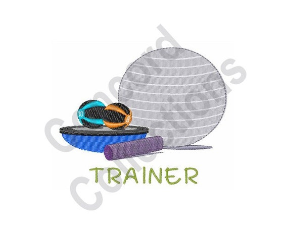 Exercise Trainer Machine Embroidery Design Fitness Etsy