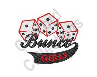 Bunco - Machine Embroidery Design, Dice - Machine Embroidery Design