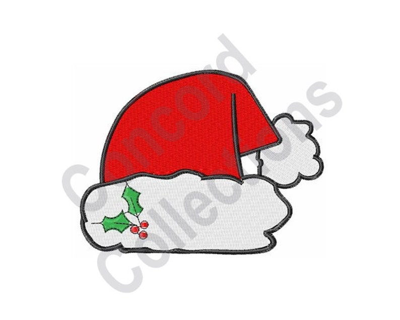201f512467f Santa Hat Machine Embroidery Embroidery Designs Embroidery