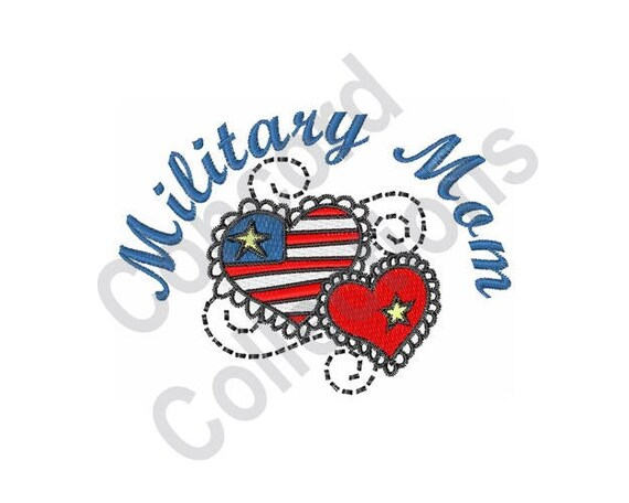 Military Mom Machine Embroidery Design Military Machine Etsy