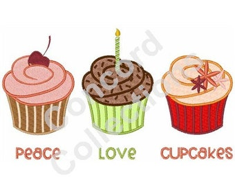 Flavored Cupcakes Machine Embroidery Design