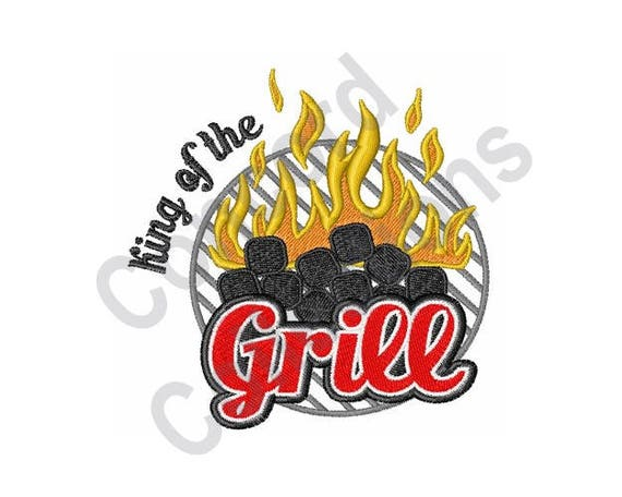 Bbq Machine Embroidery Design Grill Machine Embroidery Etsy