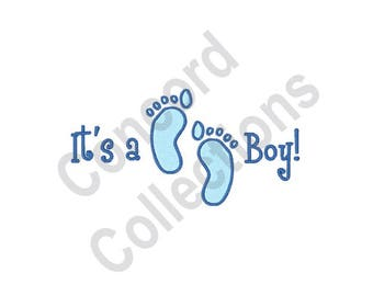 Its A Boy - Machine Embroidery Design, Baby - Machine Embroidery Design