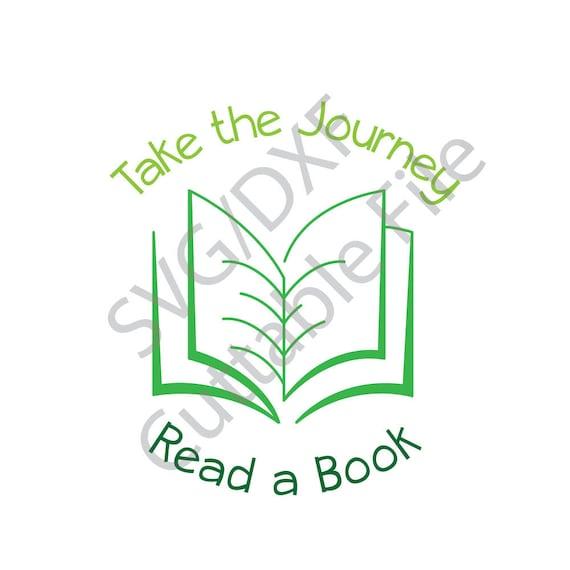Book SVG, Read a Book, DXF File, HTV, Vinyl Cuttable File