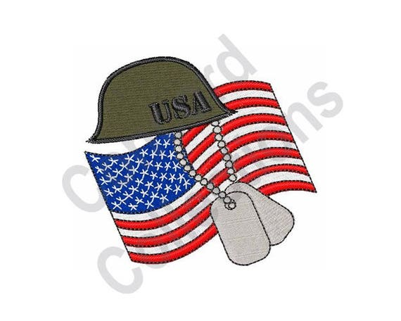 American Military Machine Embroidery Design Etsy