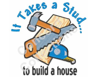 Construction Tools Embroidery Design