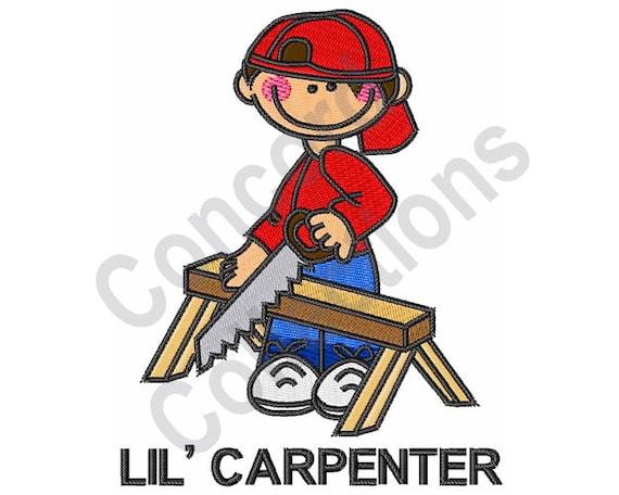 Lil Carpenter Boy Machine Embroidery Design Etsy