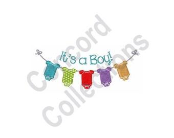 Boy Baby Machine Embroidery Design