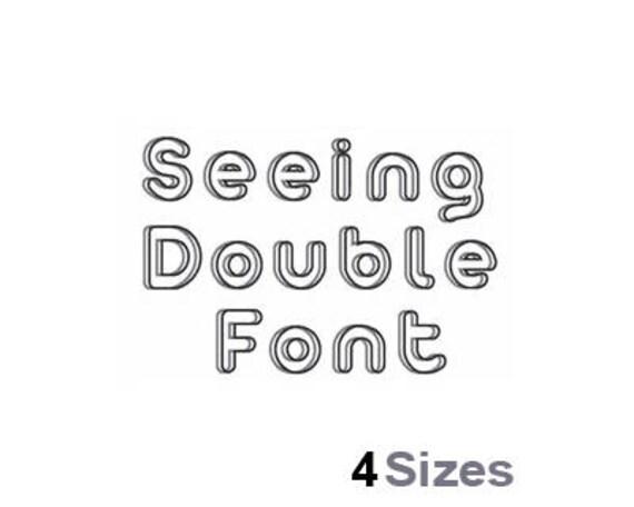 Sehen doppelt Schrift Maschine Stickmuster 4 Größen   Etsy