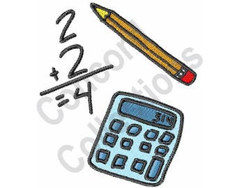 Calculator - Machine Embroidery Design, Math