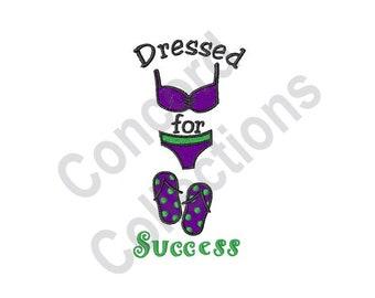 Dressed For Success - Machine Embroidery Design, Bikini, Bathing Suit