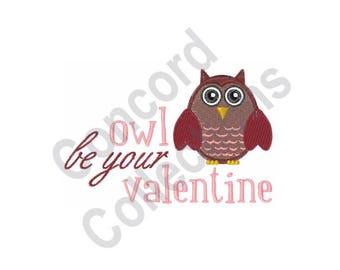 Owl Valentine - Machine Embroidery Design
