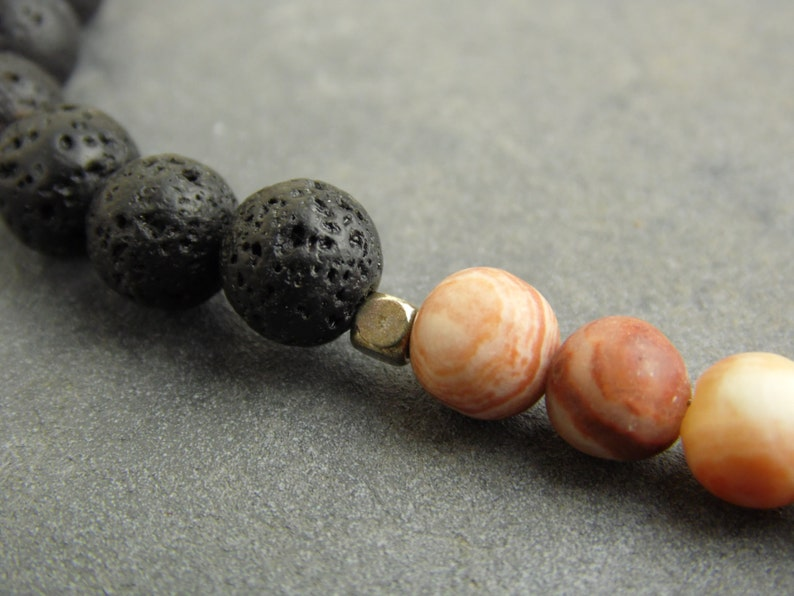 beaded necklace women/'s necklace gift for her mom/'s necklace black lava necklace gemstone necklace boho necklace red onyx necklace