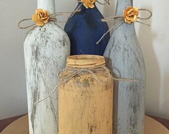 Wine Bottle Wedding Centerpieces Wine Bottle Bridal Shower