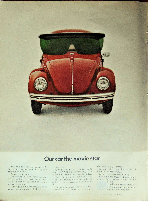 vw bug ad  volkswagen bug ad  vw love etsy