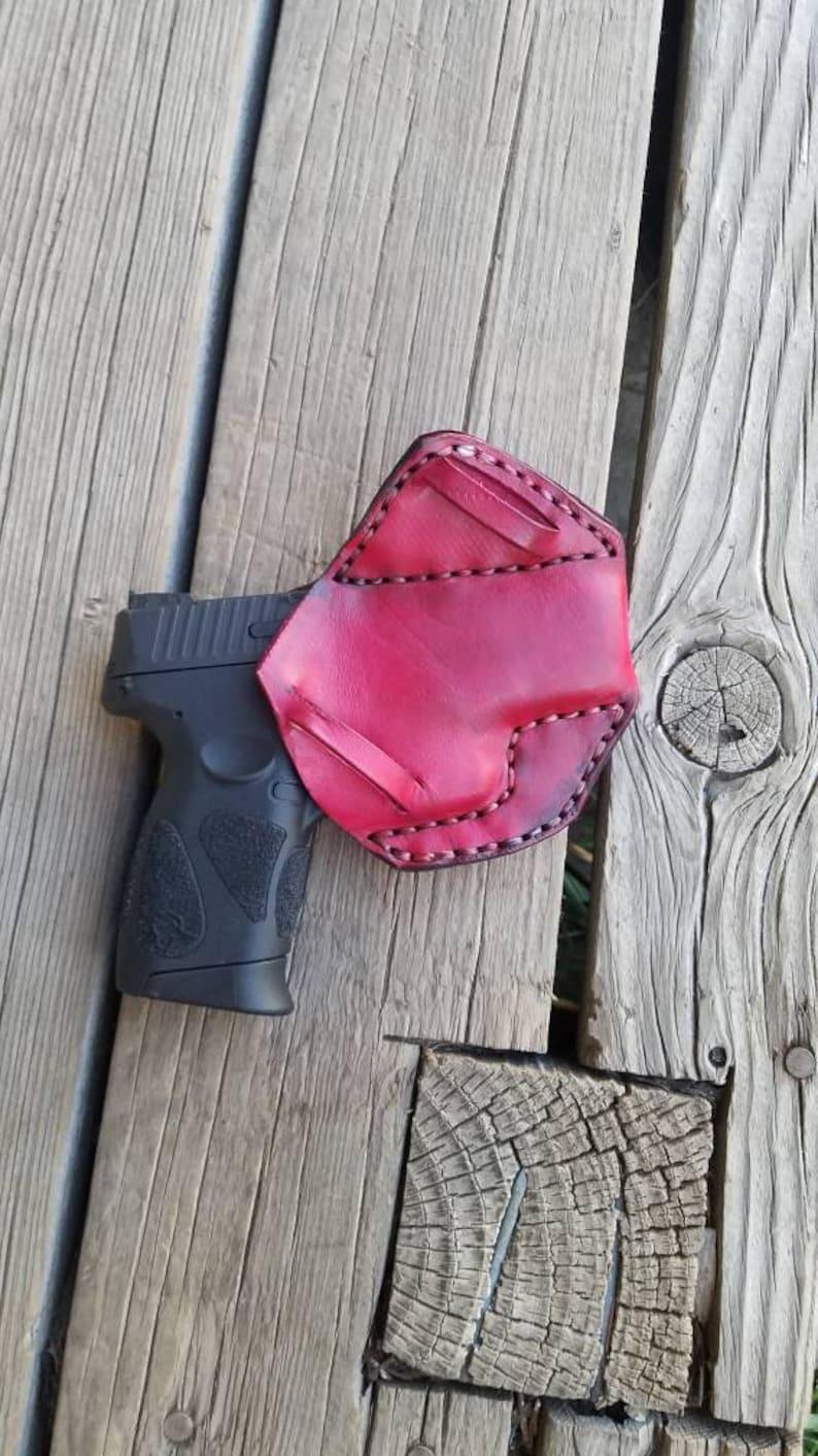 custom gun holster Taurus pt111g2c leather gun holster hand-tooled leather holster