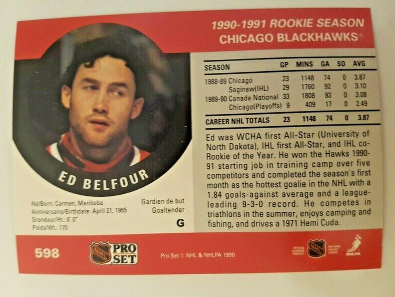 Ed Belfour Rookie Card Pro Set