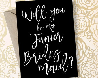 Junior Bridesmaid Proposal Printable Will You Be My Junior Bridesmaid Card - Other Styles Available